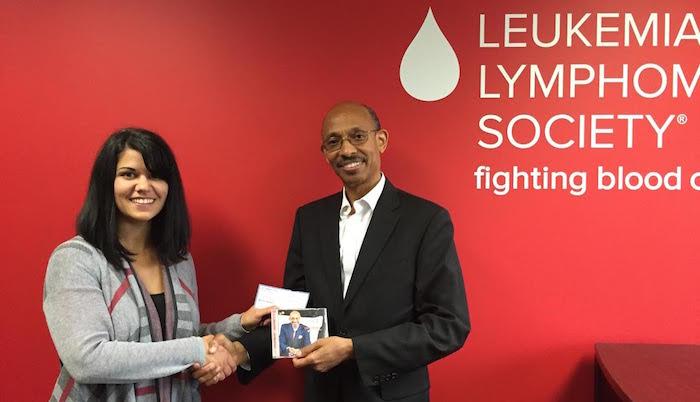 Dr. Leonard Scott at the Leukemia Society