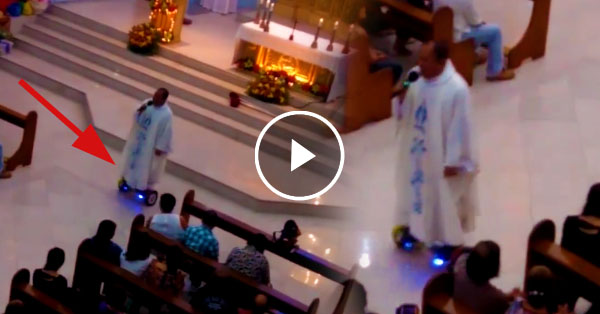 Priest Suspended For Using Hoverboard During Mass