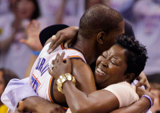 Kevin Durant and his mom