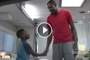 Watch Kevin Durant Surprise This Praying Kid [VIDEO]