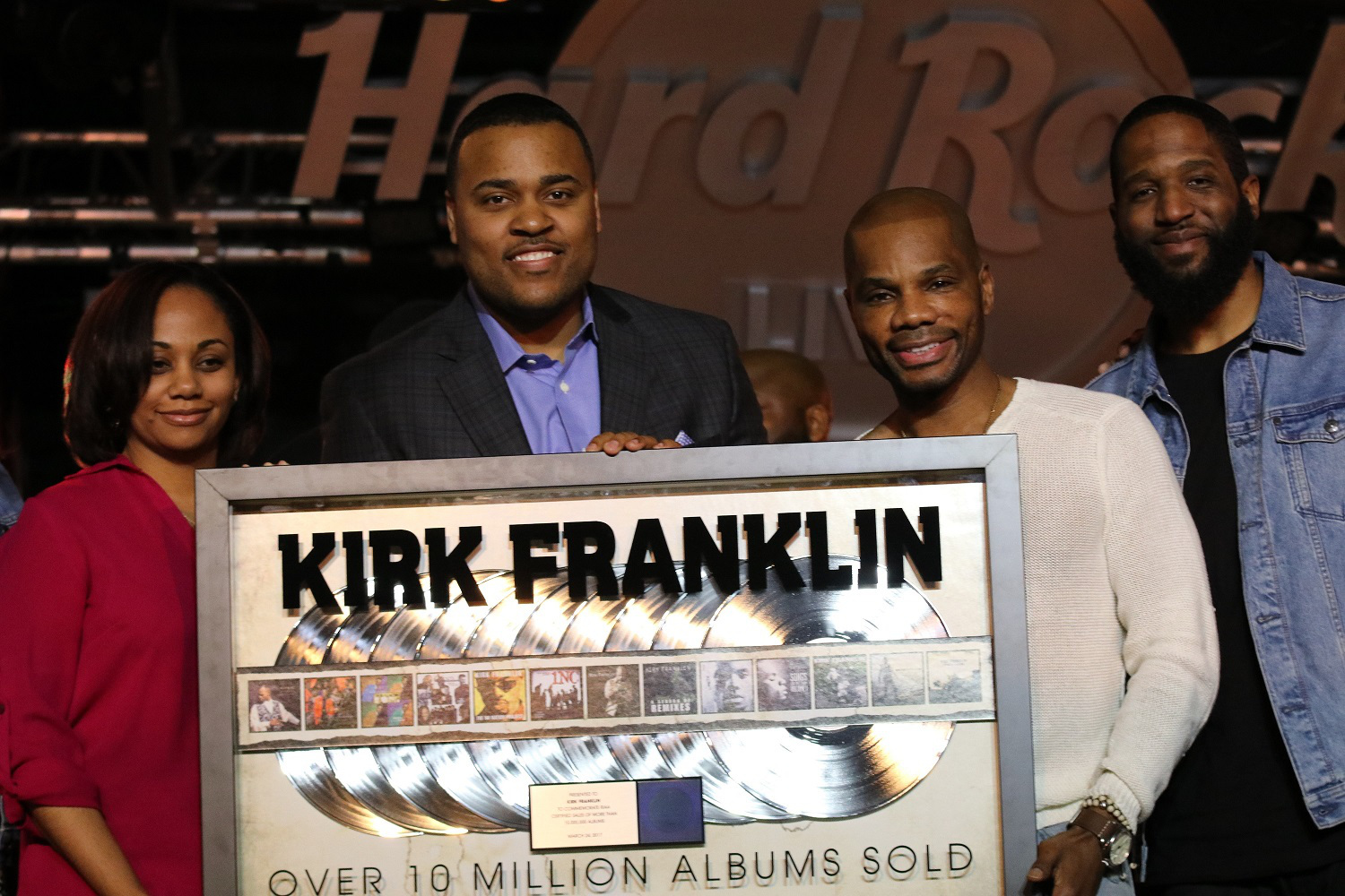 Kirk Franklin Recognized For Selling Over 10 Million Records in His ...