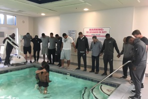 Born Again: NFL Player Marcus Johnson Gets Baptized In Hotel Pool Surrounded By Eagles Teammates