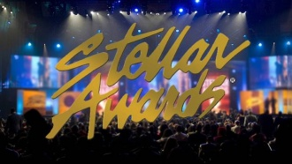 Stellar Awards Logo placed over photo of audience